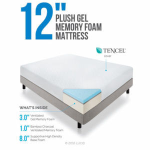 Lucid 12 Inch Gel Memory Foam Mattress Review Ohmattresscom