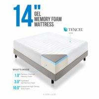 LUCID 14 inch plush memory foam