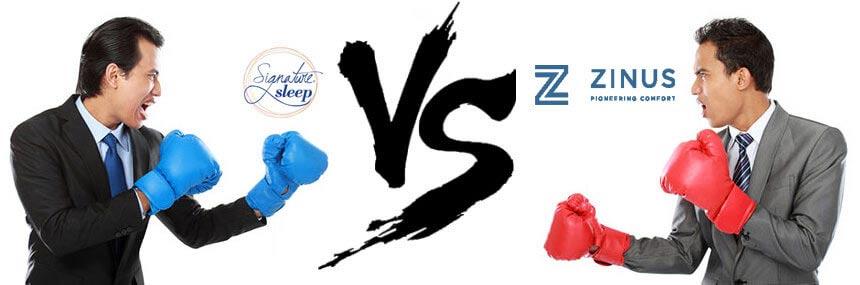 signature sleep vs zinus